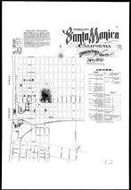Index Map and Street Index, Santa Monica 1895